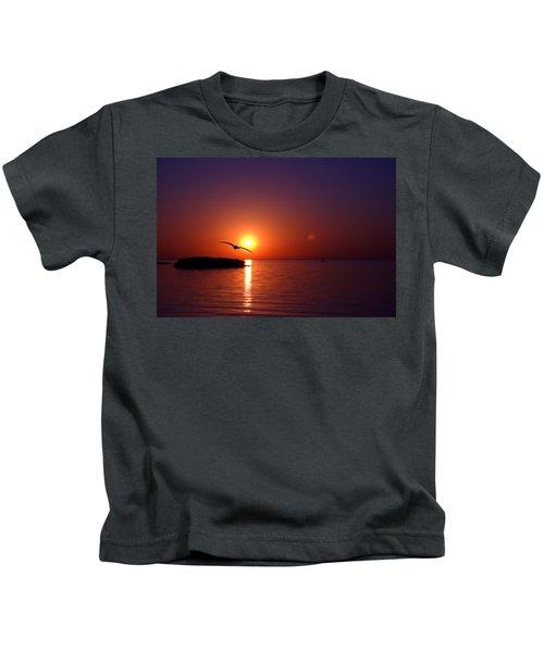 Sunset Blue Kids T-Shirt