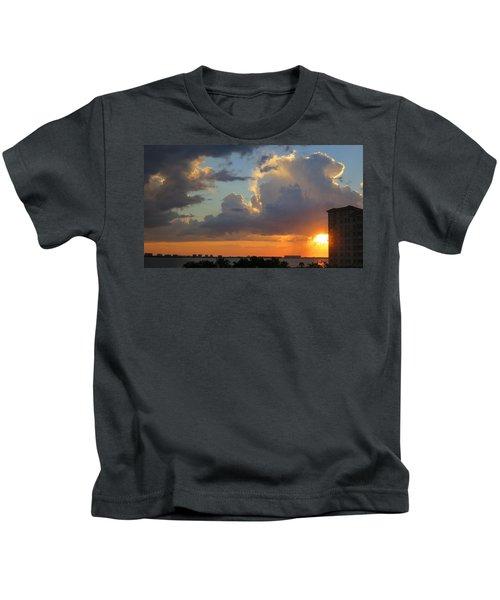 Sunset Shower Sarasota Kids T-Shirt