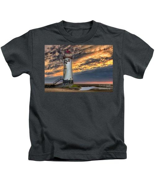 Sunset Lighthouse Kids T-Shirt