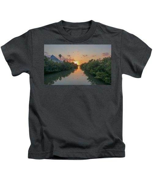 Sunset On Sarasota Bay Kids T-Shirt