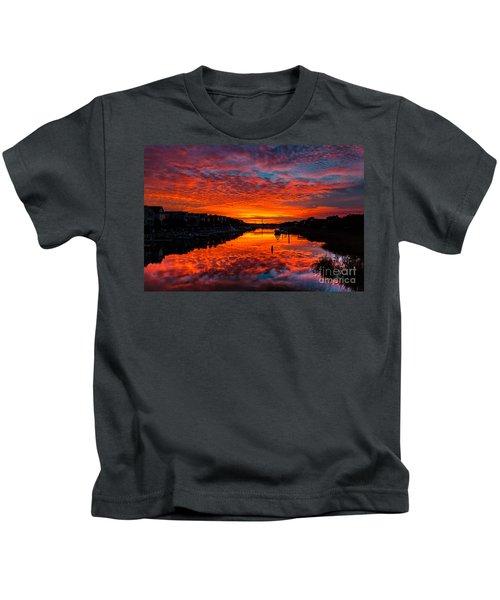Sunset Over Morgan Creek - Wild Dunes Resort Kids T-Shirt