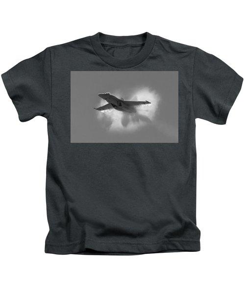 Super Hornet Shockwave Bw Kids T-Shirt