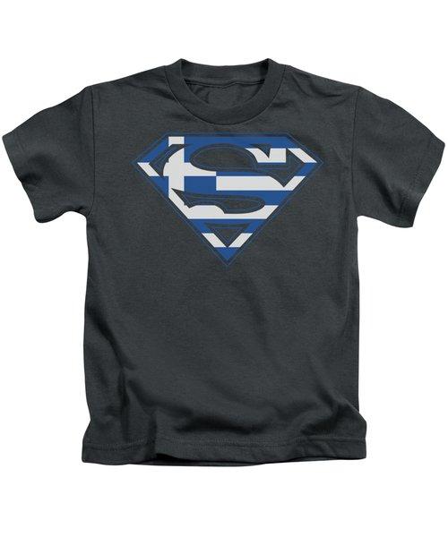 Superman - Greek Shield Kids T-Shirt