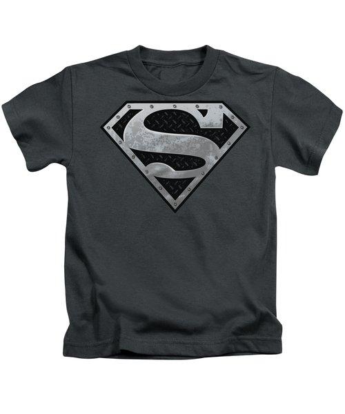 Superman - Super Metallic Shield Kids T-Shirt