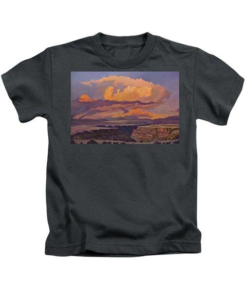 Taos Gorge - Pastel Sky Kids T-Shirt