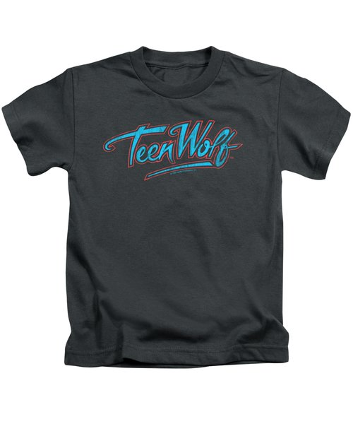 Teen Wolf - Neon Logo Kids T-Shirt
