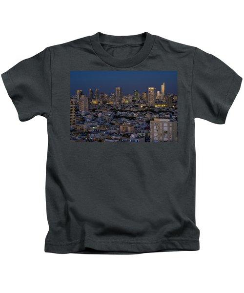 Tel Aviv At The Twilight Magic Hour Kids T-Shirt