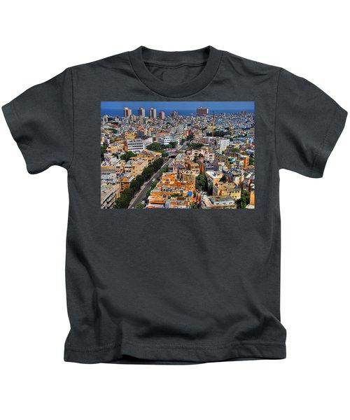 Tel Aviv Eagle Eye View Kids T-Shirt
