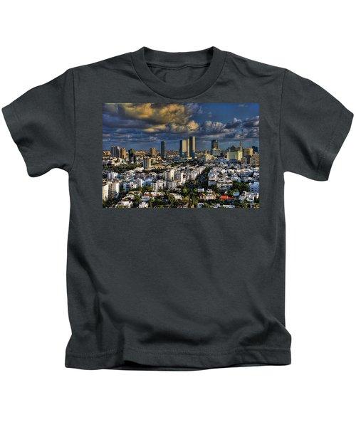 Tel Aviv Skyline Fascination Kids T-Shirt