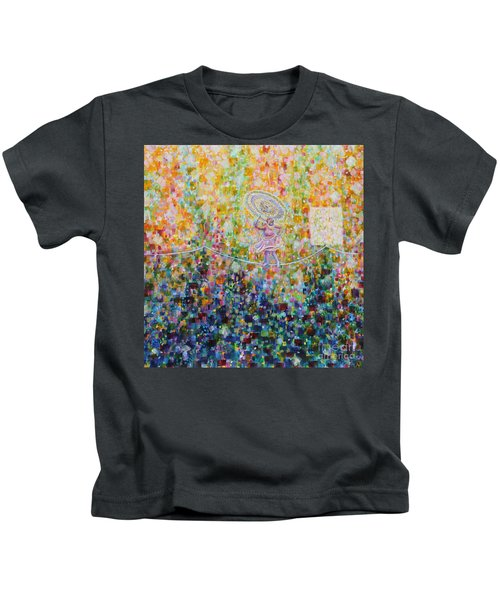 Temple Dance-tightrope  Kids T-Shirt