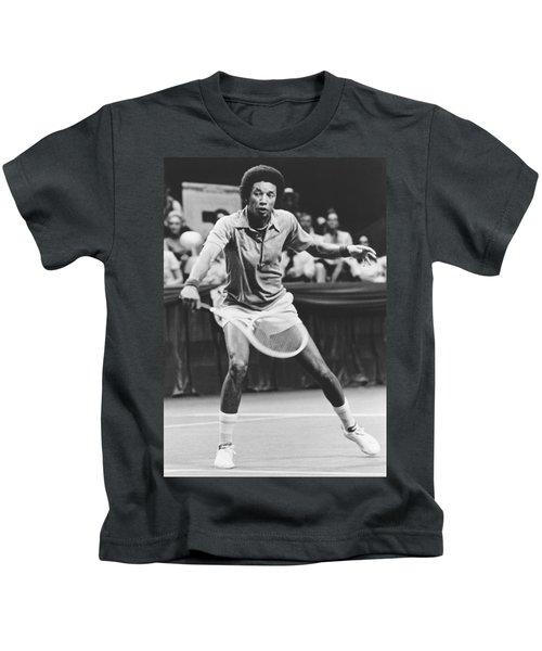 Tennis Champion Arthur Ashe Kids T-Shirt