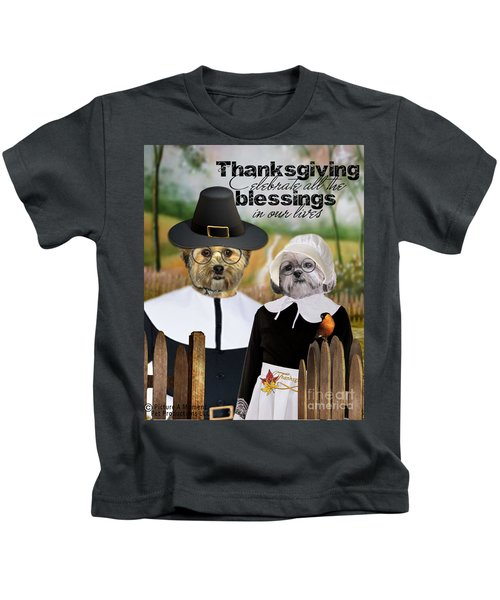 Thanksgiving From The Dogs Kids T-Shirt
