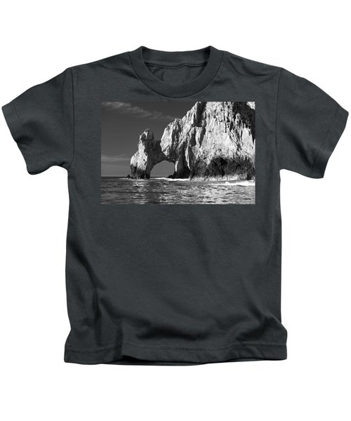 The Arch Cabo San Lucas In Black And White Kids T-Shirt