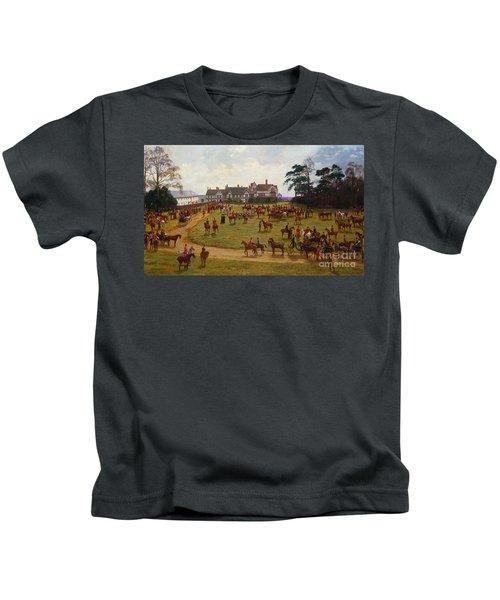 The Cheshire Hunt    The Meet At Calveley Hall  Kids T-Shirt