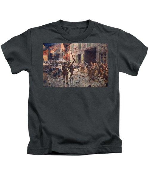 The Coldstream Guards At Landrecies Kids T-Shirt
