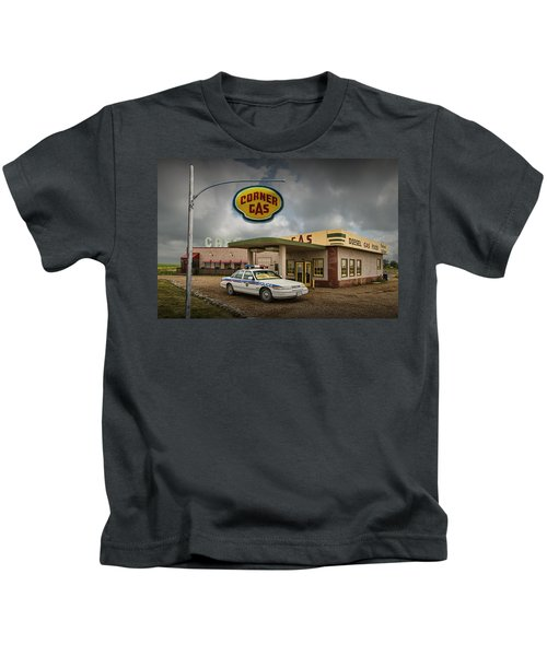 The Corner Gas Station From The Canadian Tv Sitcom Kids T-Shirt