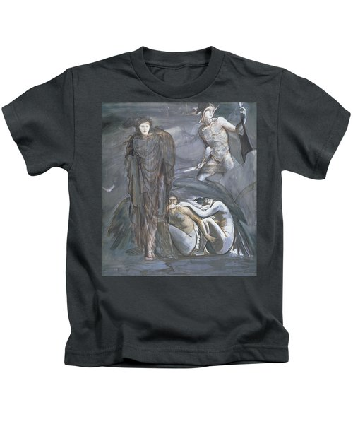 The Finding Of Medusa, C.1876 Kids T-Shirt by Sir Edward Coley Burne-Jones