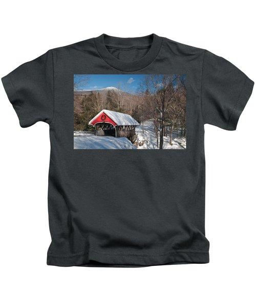 The Flume Bridge In Winter Kids T-Shirt