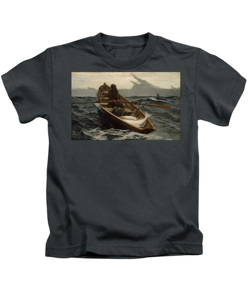 The Fog Warning .halibut Fishing Kids T-Shirt