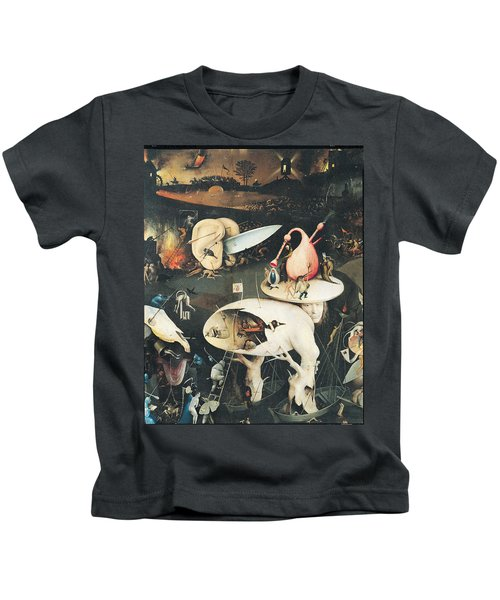 The Garden Of Earthly Delights Hell, Right Wing Of Triptych, C.1500 Oil On Panel See 322, 3425 Kids T-Shirt