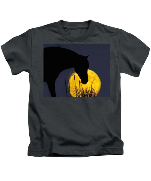 The Horse In The Moon Kids T-Shirt