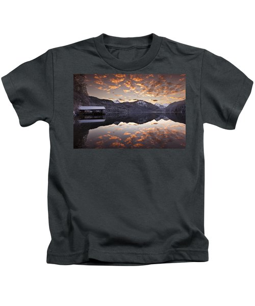 The Hut By The Lake Kids T-Shirt