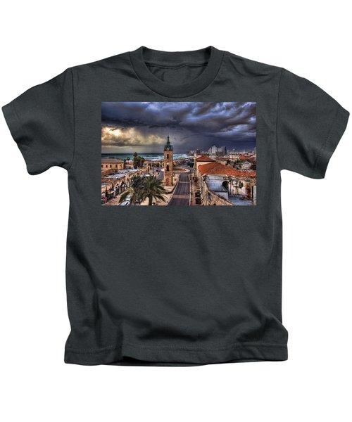 the Jaffa old clock tower Kids T-Shirt