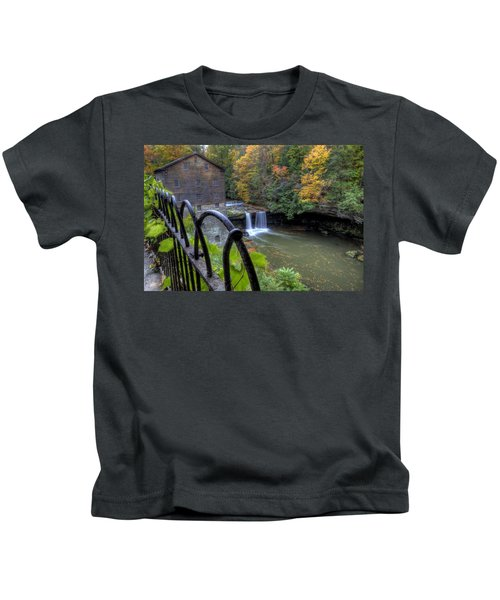 The Mill And Falls At Mill Creek Park Kids T-Shirt