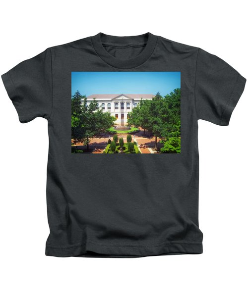 The Old Main - University Of Arkansas Kids T-Shirt