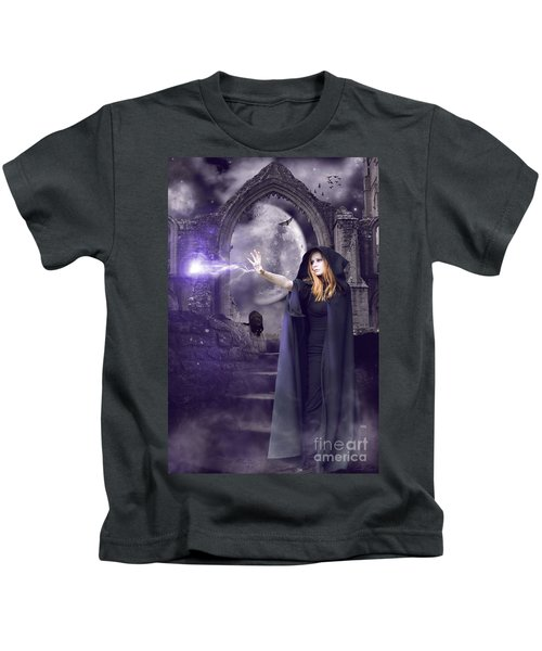 The Spell Is Cast Kids T-Shirt by Linda Lees