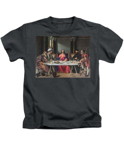The Supper At Emmaus Kids T-Shirt