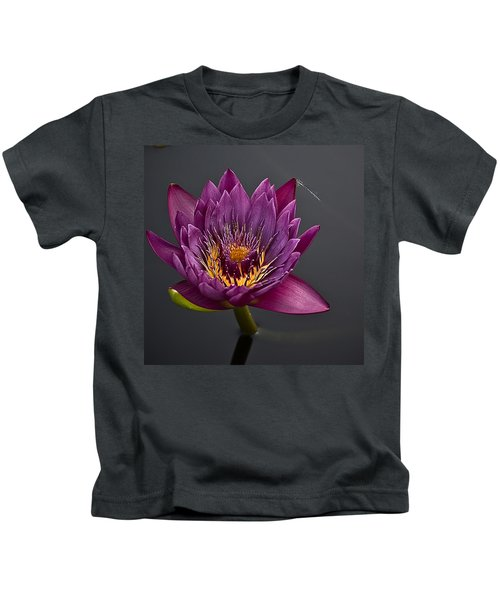 The Tiny Dragonfly On A Water Lily Kids T-Shirt