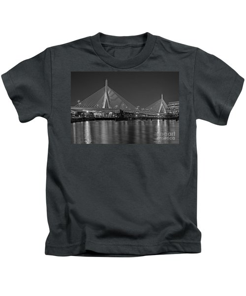 The Zakim Bridge Bw Kids T-Shirt