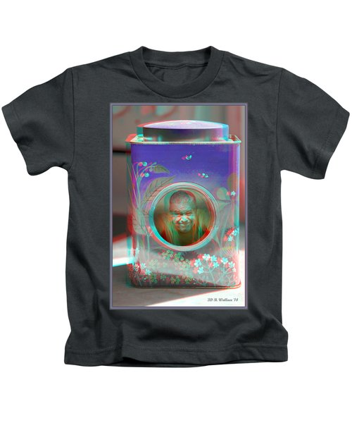 Thinking Inside The Box - Red/cyan Filtered 3d Glasses Required Kids T-Shirt