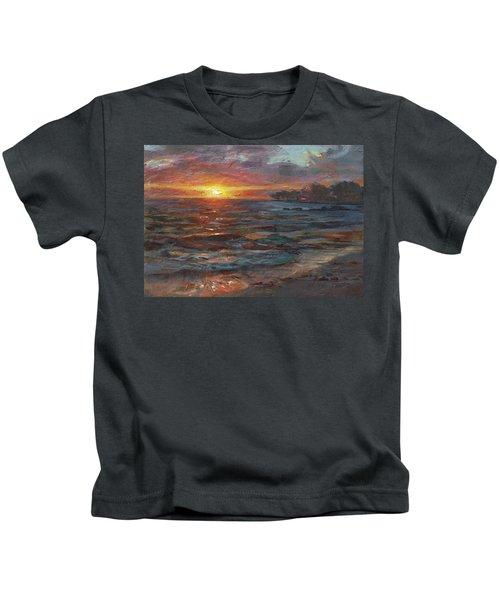 Through The Vog - Hawaii Beach Sunset Kids T-Shirt