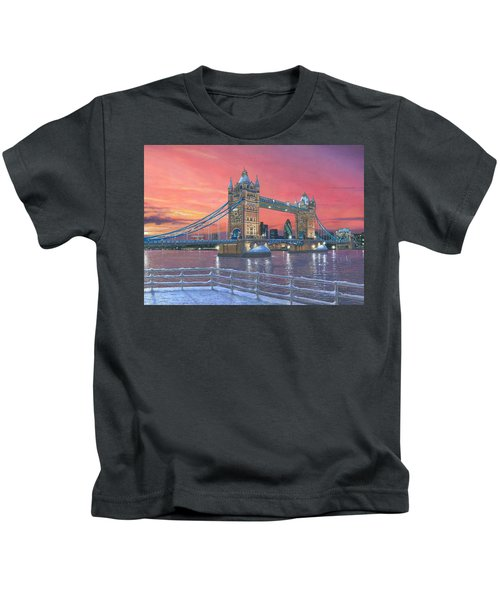 Tower Bridge After The Snow Kids T-Shirt