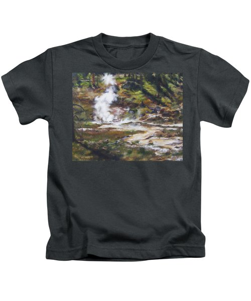 Trail To The Artists Paint Pots - Yellowstone Kids T-Shirt