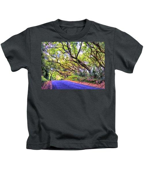 Tree Tunnel On The Big Island Kids T-Shirt