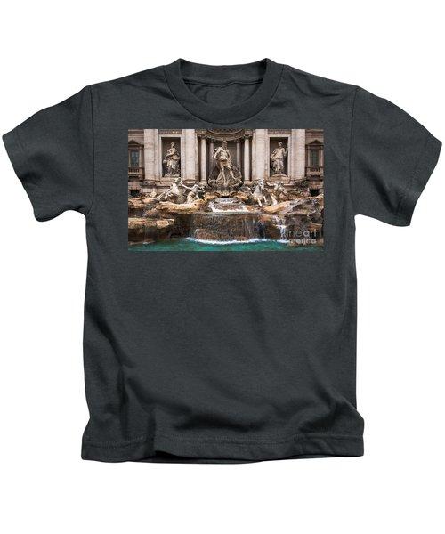 Trevi Fountain Kids T-Shirt
