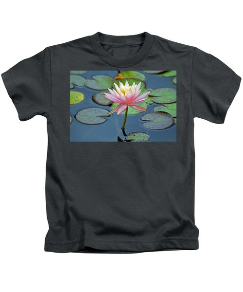 Tropical Pink Lily Kids T-Shirt