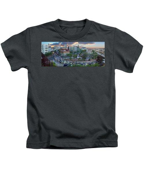 Tucson Streetcar Sunset Kids T-Shirt