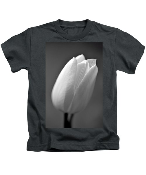 Tulip In Black And White Kids T-Shirt