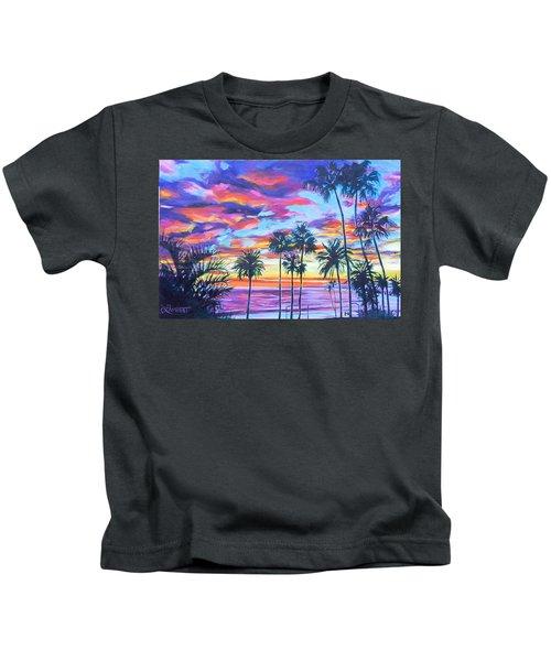 Twilight Palms Kids T-Shirt