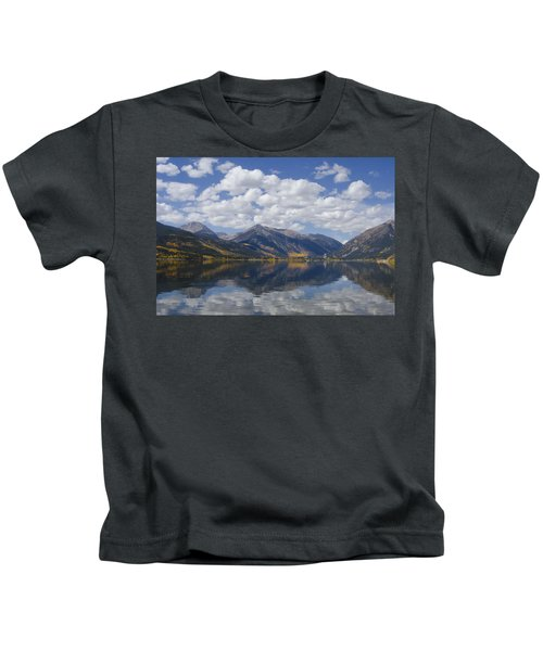 Twin Lakes Autumn Reflection Kids T-Shirt