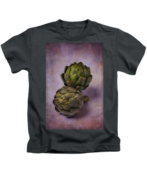 Two Artichokes Kids T-Shirt by Garry Gay