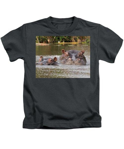 Two Hippopotamus Hippopotamus Amphibius Kids T-Shirt