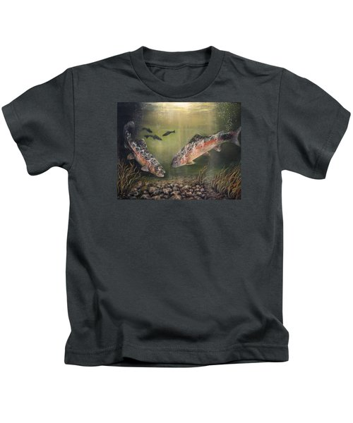 Two Rainbow Trout Kids T-Shirt
