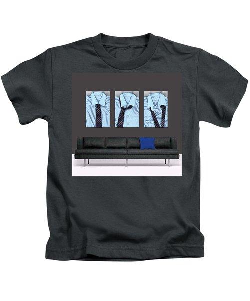 Tying One On - Men's Tie Art By Sharon Cummings Kids T-Shirt