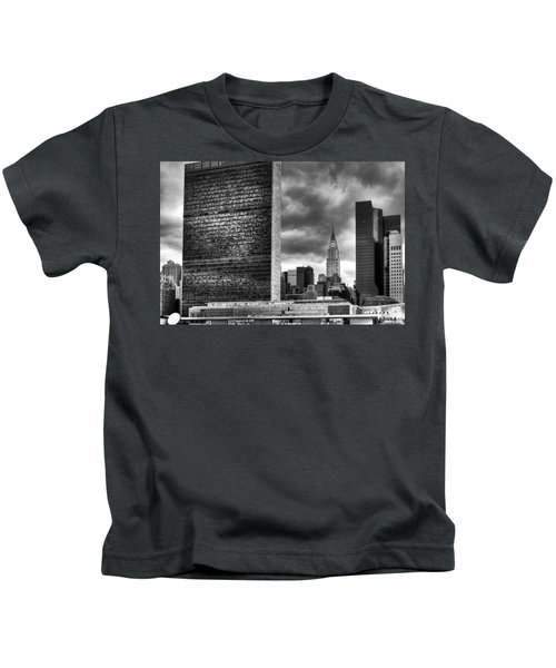 United Nations And Chrysler Building Kids T-Shirt