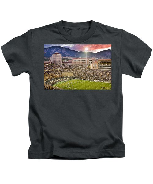 University Of Colorado Boulder Go Buffs Kids T-Shirt